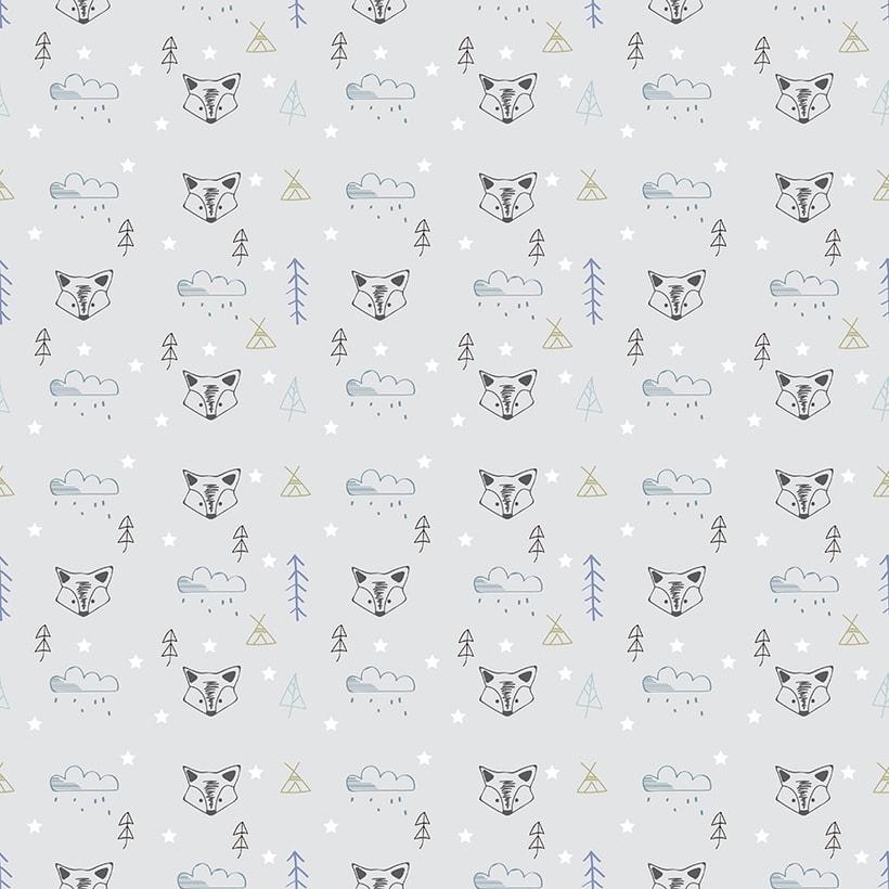 Pattern textil estilo nórdico. Mi Proyecto del curso: Motivos para repetir -1