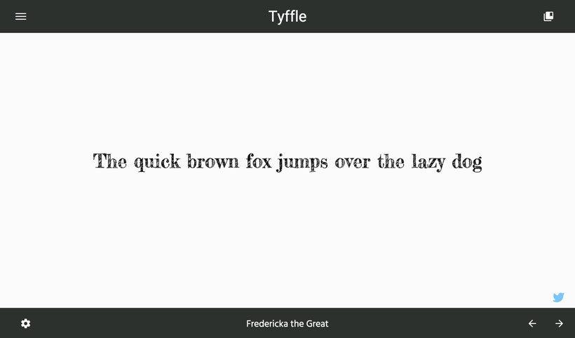 Tyffle, un sencillo selector de tipografías 3