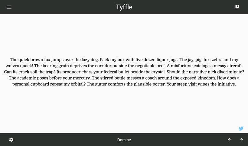 Tyffle, un sencillo selector de tipografías 5