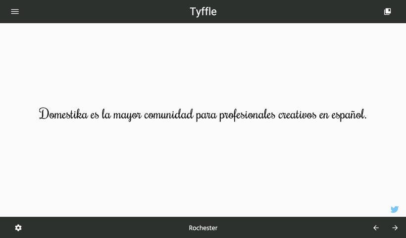 Tyffle, un sencillo selector de tipografías 6