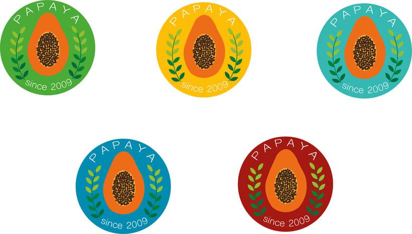 "Logotipos ""PAPAYA"" 0"