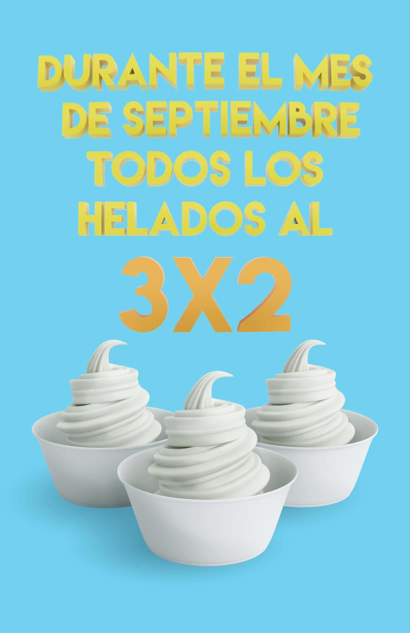 Soft ice cream / Helado suave 3d 2