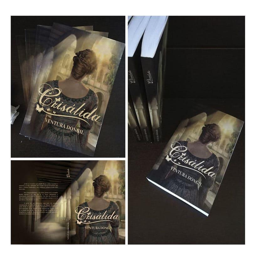 Cubierta nueva edición de la novela Crisálida 0