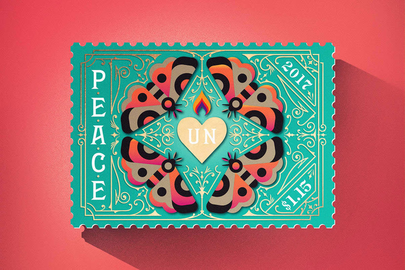 Sellos de diseño en favor de la Paz mundial 6