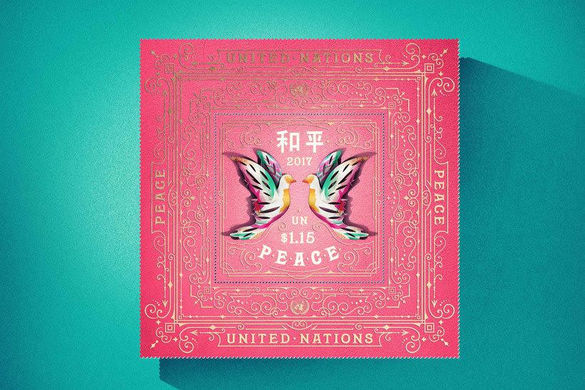 Sellos de diseño en favor de la Paz mundial 7