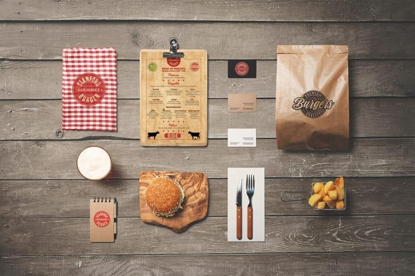 Stanford Gourmet Burger carta de menú.  4