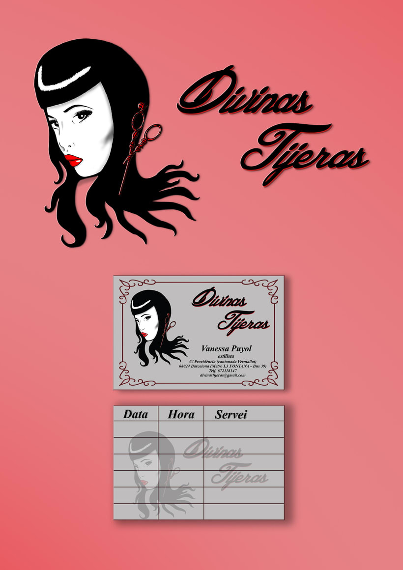 "Branding peluquería ""Divinas Tijeras"" (Barcelona) -1"