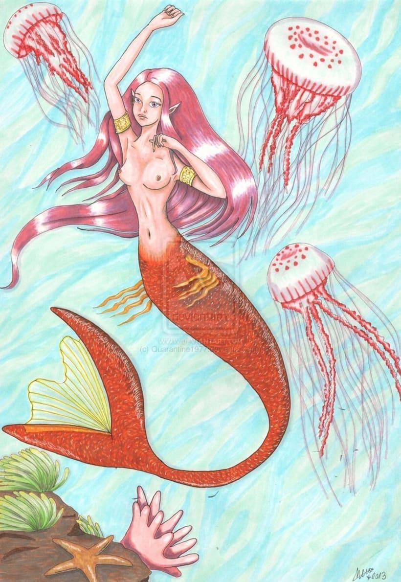 Colección Sirenas-ilustración tradicional. -1