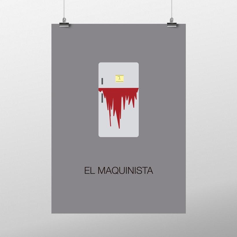 Diseño carteles cinematográficos minimalistas 1