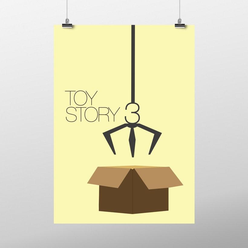 Diseño carteles cinematográficos minimalistas 3