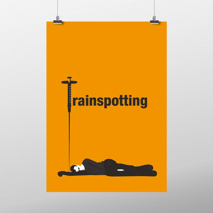 Diseño carteles cinematográficos minimalistas 4