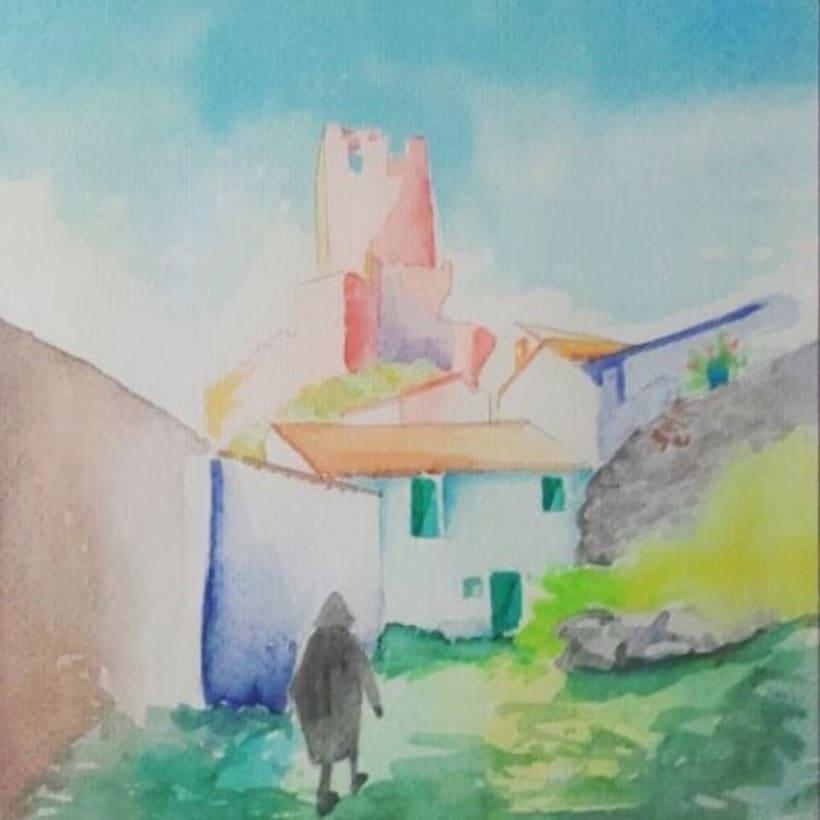 Watercolors.  1