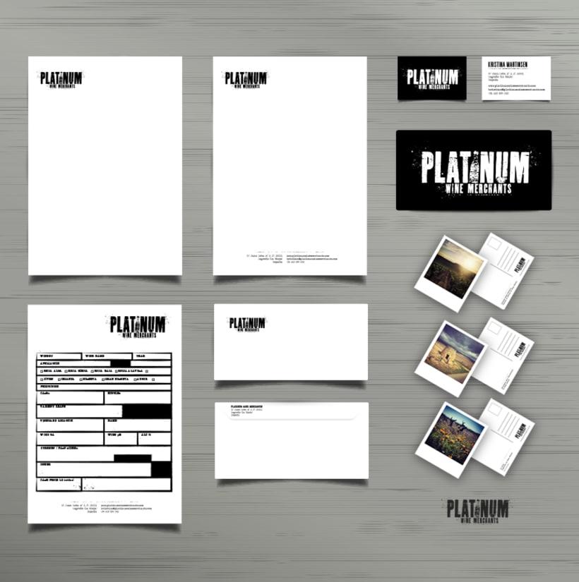PLATINUM Wine Merchants - Identidad Corporativa -1