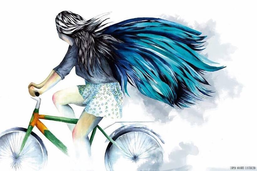 Ilustración colaboradora.Ciudad de las bicis. Zaragoza. -1