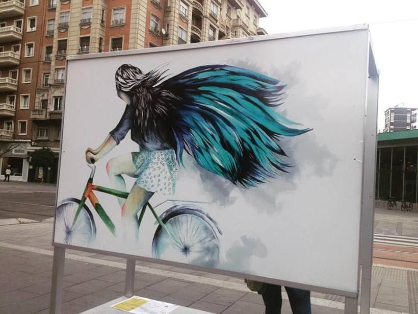 Ilustración colaboradora.Ciudad de las bicis. Zaragoza. 0