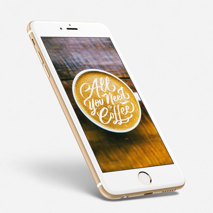 Fondo para celulares con lettering 1