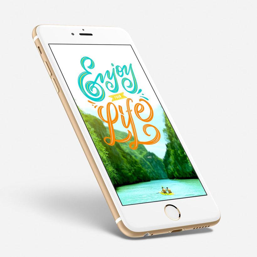 Fondo para celulares con lettering 3