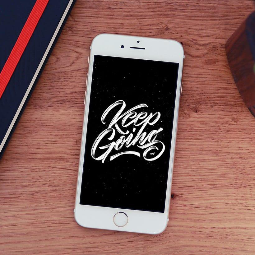Fondo para celulares con lettering 5