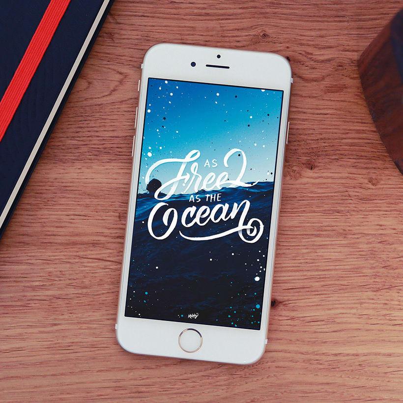 Fondo para celulares con lettering 6