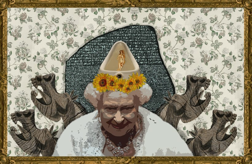 "Collage ""The Queen"" 0"