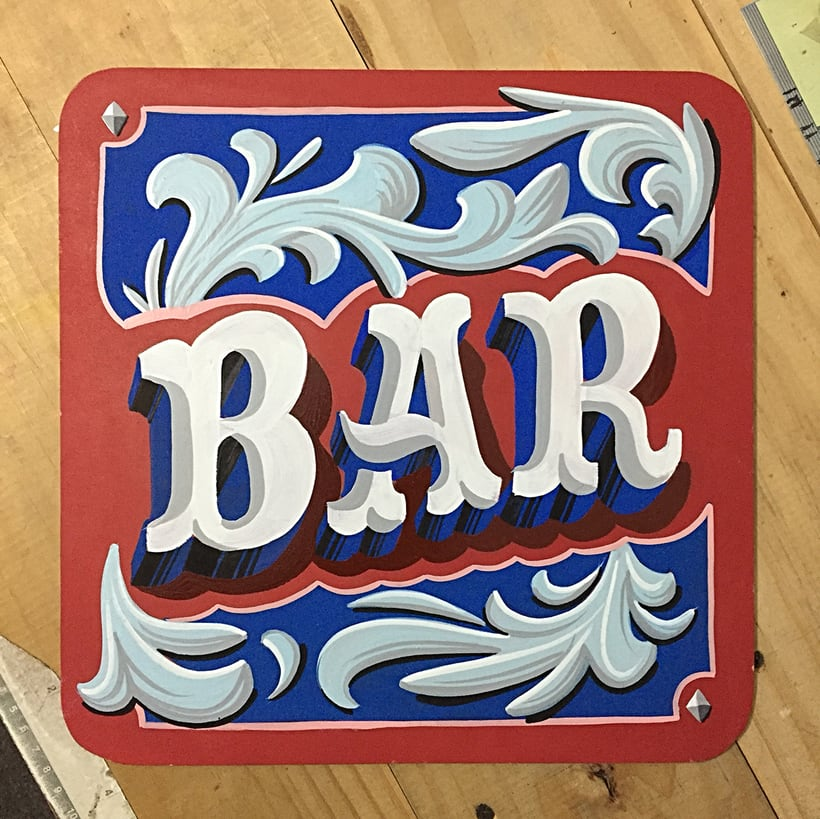 Bar Lettering 3