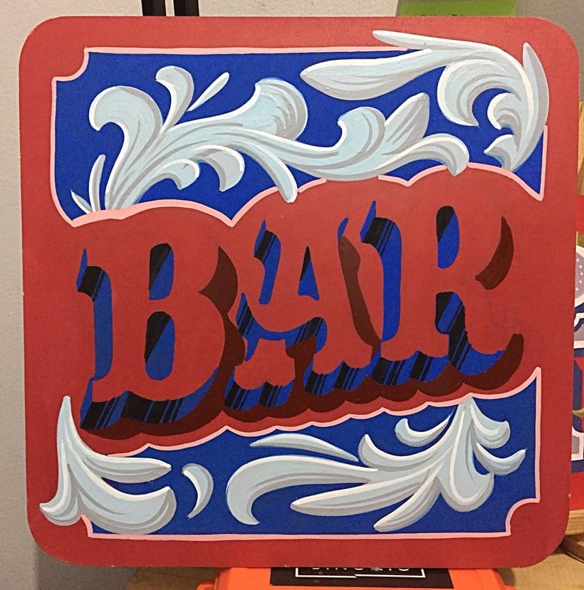 Bar Lettering 2