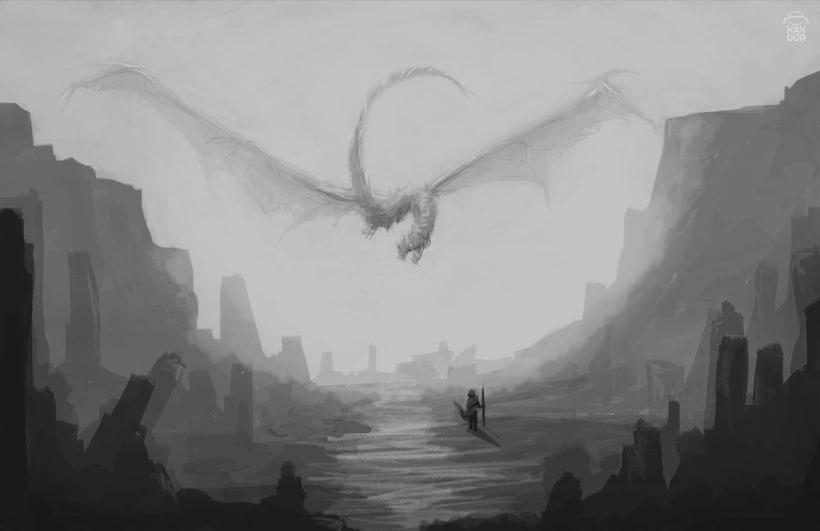 Concept art - Dragon volador -1