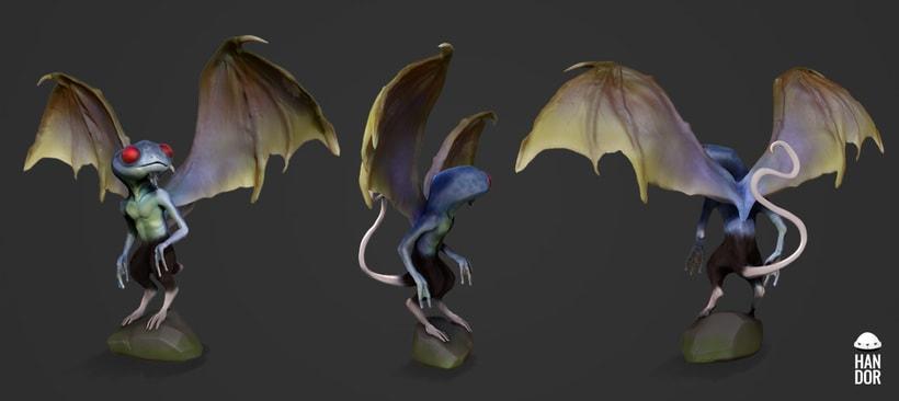 Concept art - 3D creatura de novela grafica 0