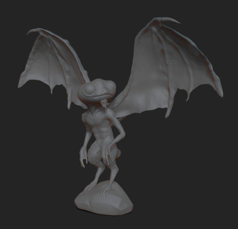 Concept art - 3D creatura de novela grafica 1