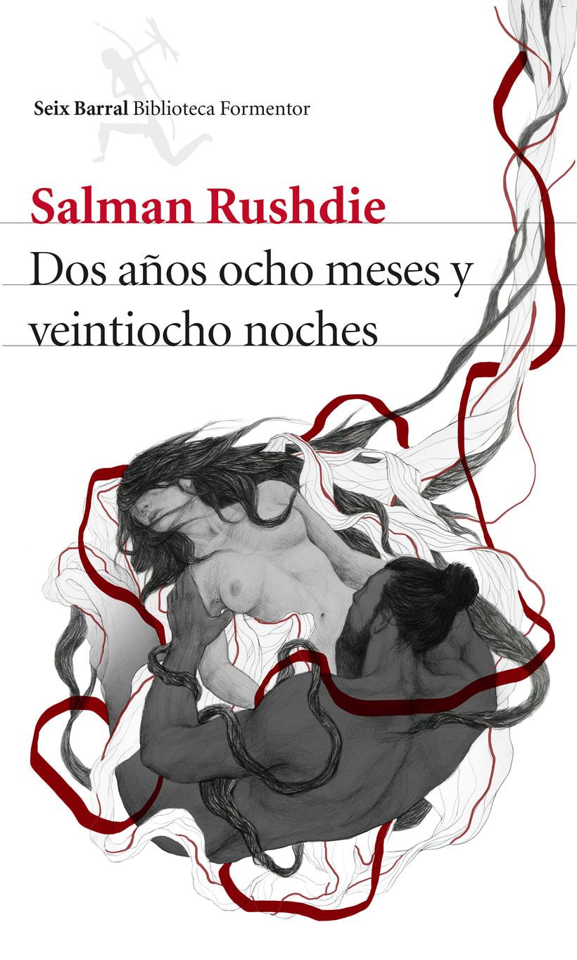 Cubierta ilustrada: Dos años, ocho meses y veintiocho noches de S. Rushdie 0