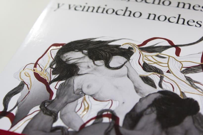 Cubierta ilustrada: Dos años, ocho meses y veintiocho noches de S. Rushdie 3