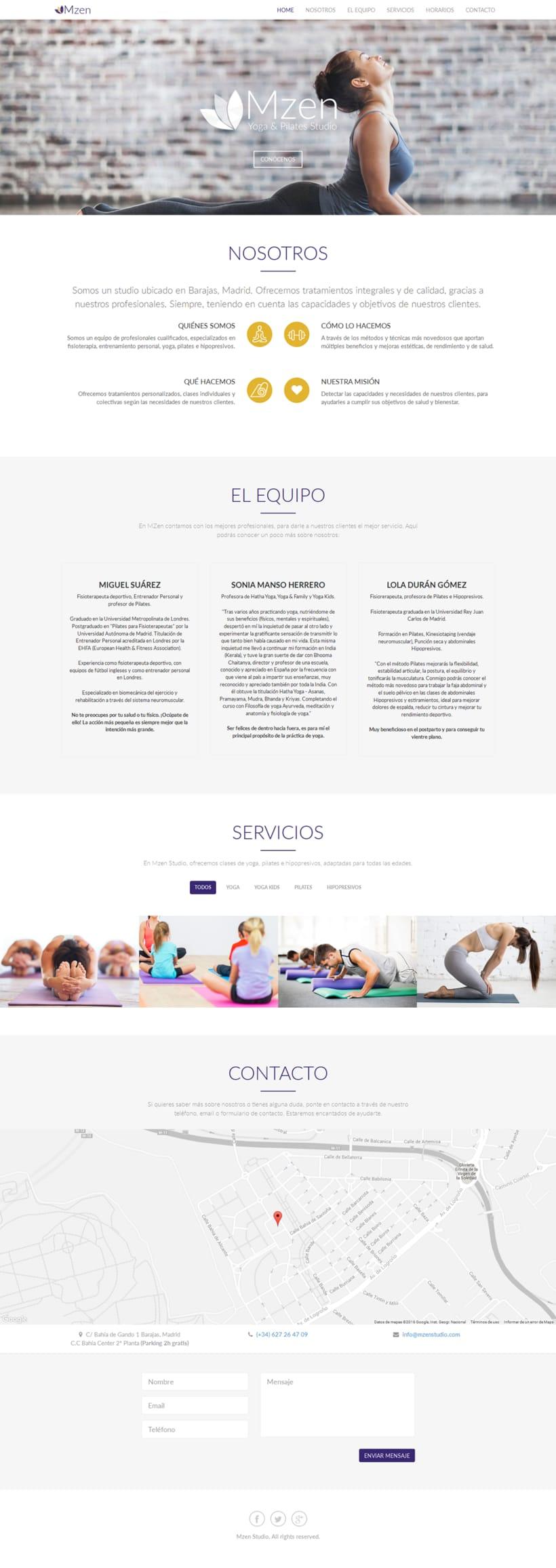 Imagen Corporativa Mzen Yoga & Pilates Studio 7