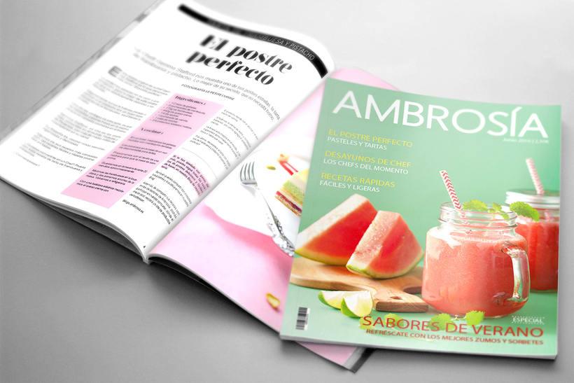 Maquetación y Diseño Revista Ambrosía -1