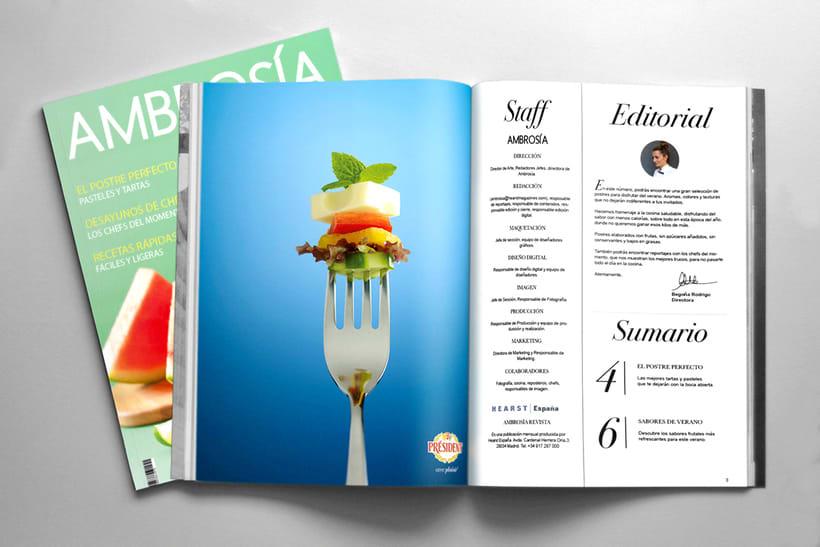 Maquetación y Diseño Revista Ambrosía 0