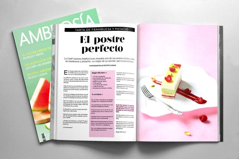 Maquetación y Diseño Revista Ambrosía 1