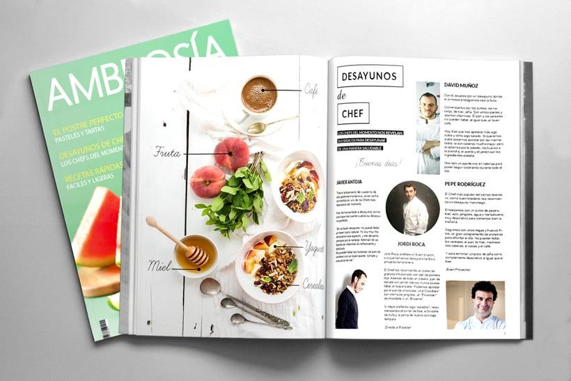 Maquetación y Diseño Revista Ambrosía 2