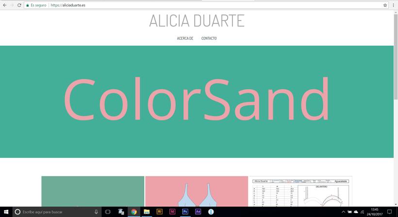 Mi Proyecto del curso: Creación de una web profesional con WordPress: Alicia Duarte 1