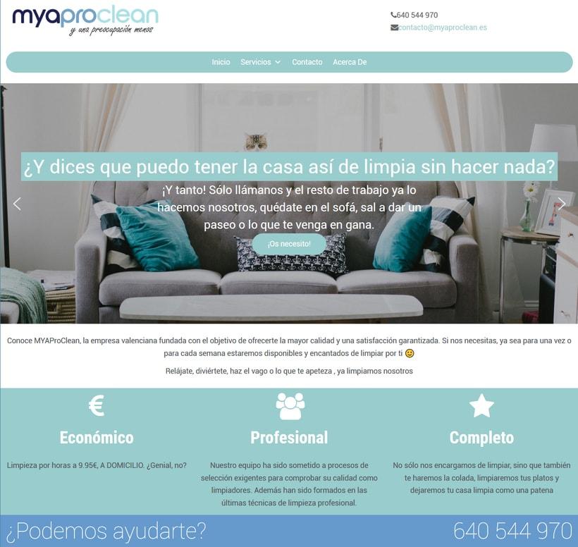 Página web de myaproclean -1
