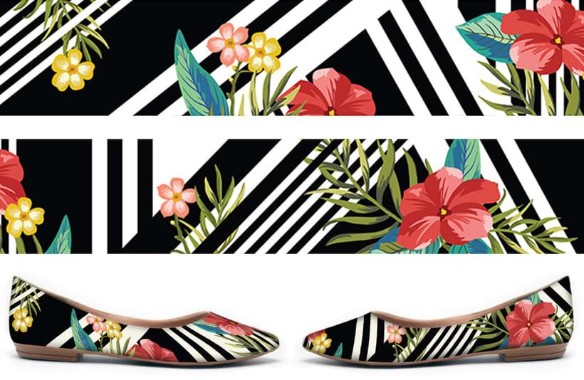 Flat shoes print 0