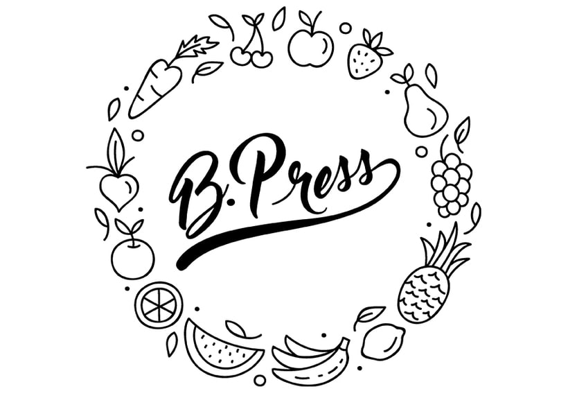 Juice B. Press: logo and label for packaging 0