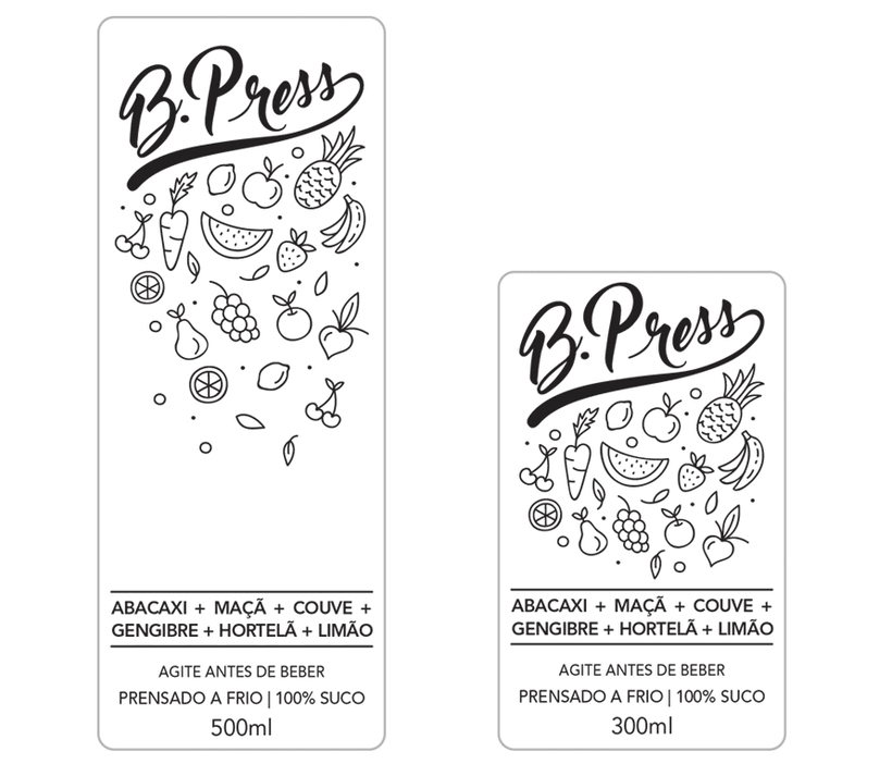Juice B. Press: logo and label for packaging 1