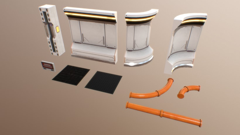 Modular SciFi Environment - Unreal Engine 4 0