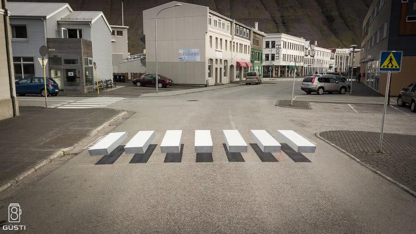 Islandia y los pasos de cebra 3D 1