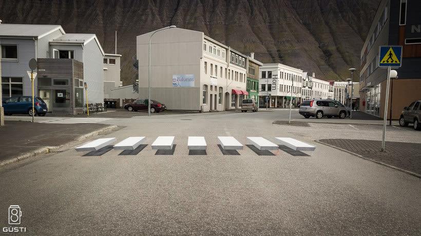 Islandia y los pasos de cebra 3D 8