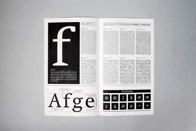 Swift: Espécimen tipográfico | Font Specimen 2