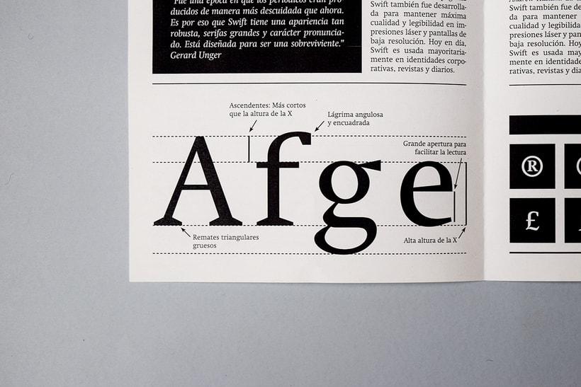 Swift: Espécimen tipográfico | Font Specimen 3