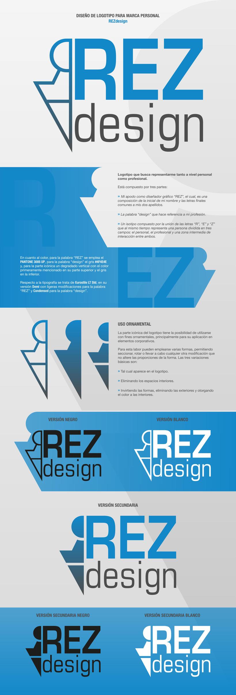 Logotipo para la marca personal REZdesign -1