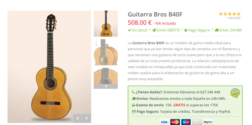 Desarrollo Web del E-commerce de GuitarrasTriana.com 0