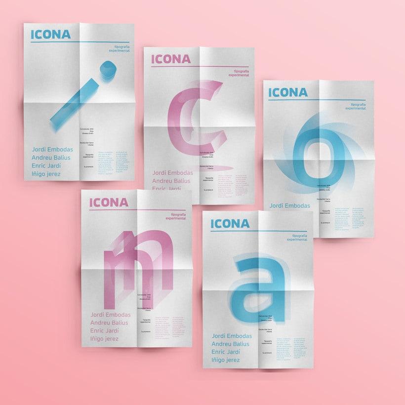 Campaña  ICONA typeface 0