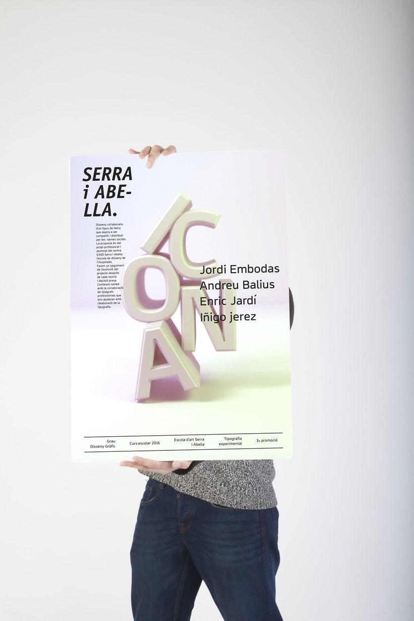 Campaña  ICONA typeface 1